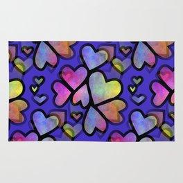 Rainbow Hearts Rug