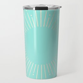 Simply Sunburst in Tropical Sea Blue Travel Mug