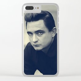 Johnny Cash Clear iPhone Case