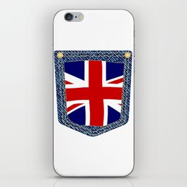 Union Jack Denim Pocket iPhone Skin