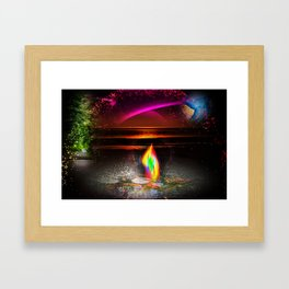 Our world is a magic - Sunset Framed Art Print