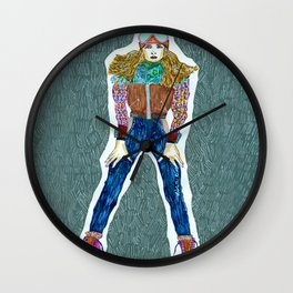 Fall winter Wall Clock