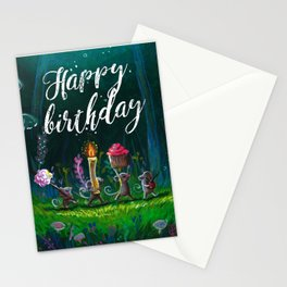 Magical mouse dinner party Stationery Cards