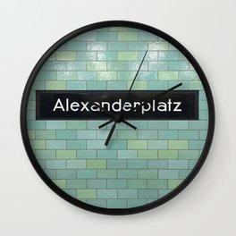 Berlin U-Bahn Memories - Alexanderplatz Wall Clock