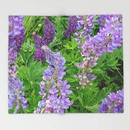Lupins Throw Blanket