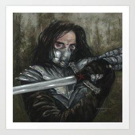 Winter Knight Art Print