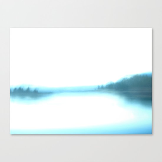 morning blurry lake in New Hampshire Canvas Print
