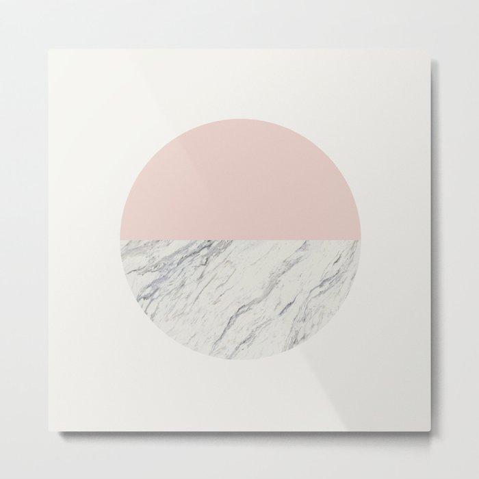 Moon Marble Metal Print