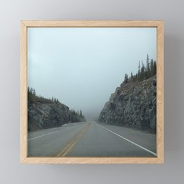 Mountain Foggy Road Framed Mini Art Print