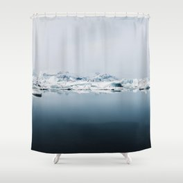 Ethereal Glacier Lagoon in Iceland - Landscape Photography Shower Curtain