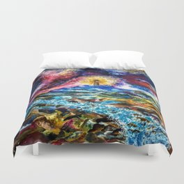 Lighthouse Landscape Duvet Cover