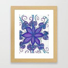 Bloom in Aqua & Purple Framed Art Print