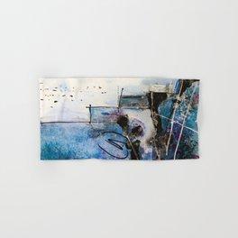 Midnight Sky, Acrylic artwork Hand & Bath Towel