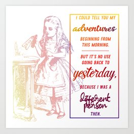 i could tell you my adventures...  Art Print