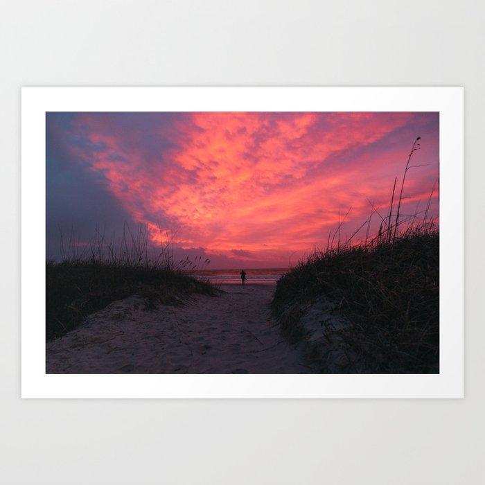 Folly Beach, SC Art Print