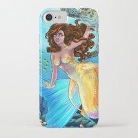 daunt iPhone & iPod Cases featuring Hawaiian Mermaid by Daunt