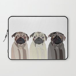 Triple Pugs Laptop Sleeve