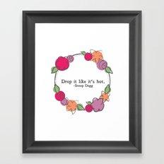 Floral - Drop It Framed Art Print
