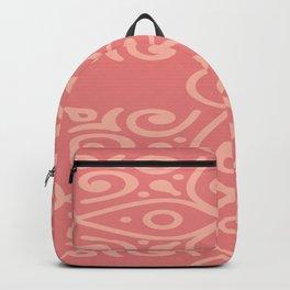 Light Pink On Dark Pink Boho Design Backpack