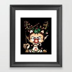Grumpy Elf (Shadows) Framed Art Print