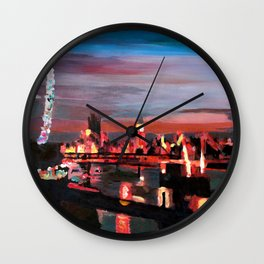 London Eye Night Wall Clock
