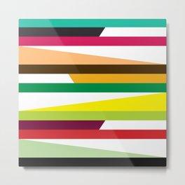 Geometric Pattern #73 (colorful stripes) Metal Print
