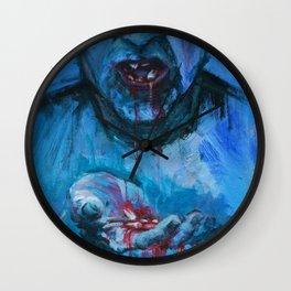SPITTING TEETH Wall Clock