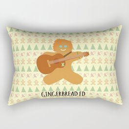 Gingerbread Ed Rectangular Pillow