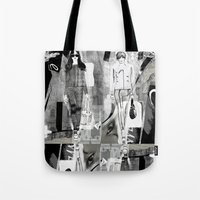 milan Tote Bags featuring >>> MILAN MIX  by Olive Primo Design + Illustration