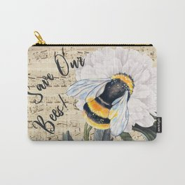 Save The Bees Collage Carry-All Pouch