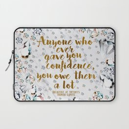 Breakfast at Tiffany's Quote Laptop Sleeve
