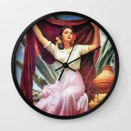 GIRL WITH REBOZO Wall Clock