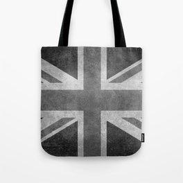 UK flag, High Quality Greyscale Retro Tote Bag