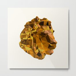 Tessellated Lion Metal Print