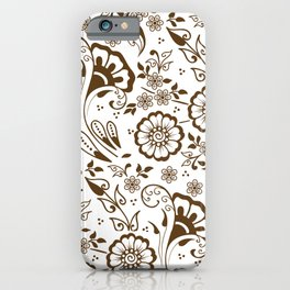 Mehndi or Henna Florals iPhone Case