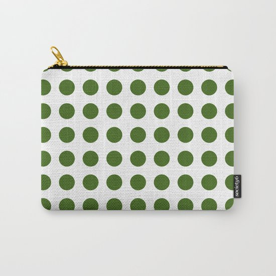 Simply Polka Dots in Jungle Green Carry-All Pouch