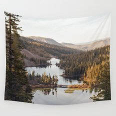 Looking Down at Twin Lakes Wall Tapestry