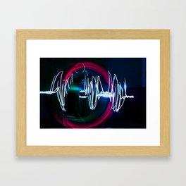 Sound Waves Framed Art Print