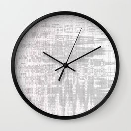 Greyish dirty and wavy look on white pavement Wall Clock