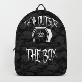 Think Outside The Box Goth Coffin Humour Backpack
