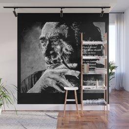 Charles Bukowski - black - quote Wall Mural