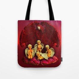#Christmas Angels Tote Bag