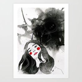 Tainted Canvas Art Print