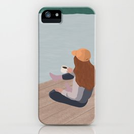 Girl Gone to the Lake iPhone Case