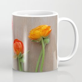 Orange Ranunculus flowers Coffee Mug