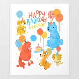 Party Dogs Art Print