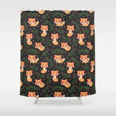 The Fox Pattern Shower Curtain