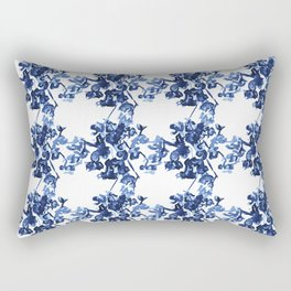 Floral Trellis Pattern Rectangular Pillow