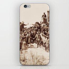 Transcontinental Railroad - Golden Spike Ceremony iPhone Skin