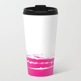 Solid Color Blocks - Neon Pink Travel Mug